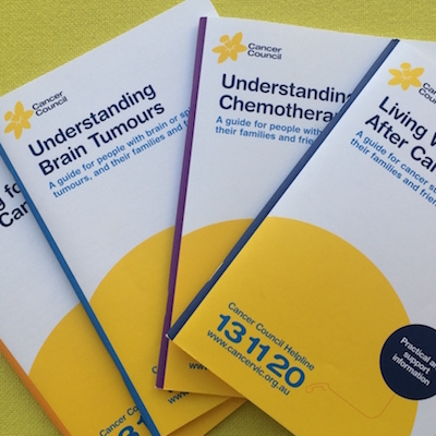 Assorted Understanding Cancer booklets