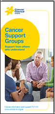 Cancer support groups brochure