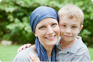 Cancer patient with a child