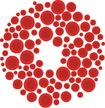 Hand and circles pattern