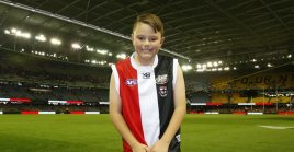 Kyen sold his footy cards to raise money for Cancer Council