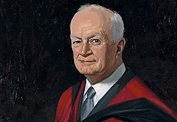 A painting of Peter McCallum