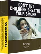 An example of cigarette pack under new plain packaging rules