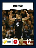 Sam Rowe's footy card