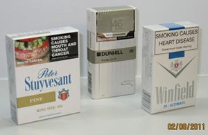 Three white packaging examples