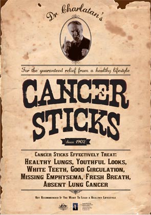Poster - Cancer sticks