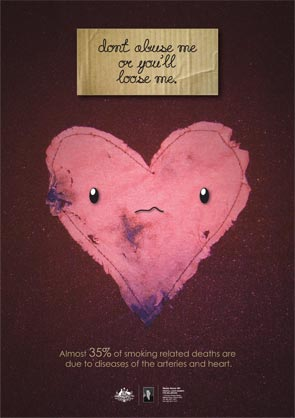 Poster of a heart - don't abuse me or you'll lose me