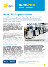 Cover of Health 2020 Newsletter