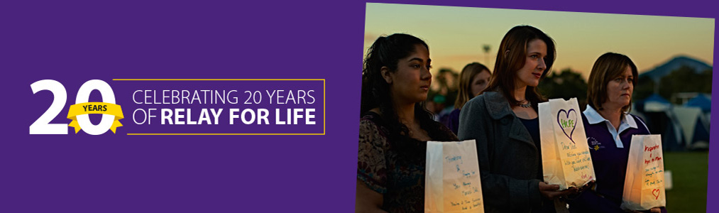 Celebrating 20 years of Relay For Life