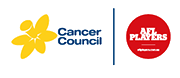 Cancer Council and AFL Players Association logo
